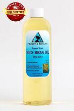 RICE BRAN OIL UNREFINED ORGANIC CARRIER COLD PRESSED VIRGIN RAW PURE 12 OZ