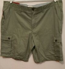 "MERONA Men's Pod Flat Front Cotton Cargo Shorts NEW Size 42 (#3t)21""outseam"