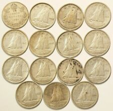 1929 to 1954 Canada 10 Cents Silver Lot of 15 #6975