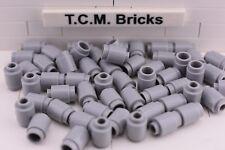 TCM Compatible Bricks Light Bluish Gray Round Brick 1 x 1 Open Stud - QTY: 100