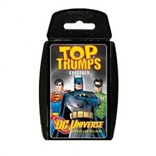 Top TRUMPS DC Universe Comic Heroes Batman Superman Collectable Travel Card Game