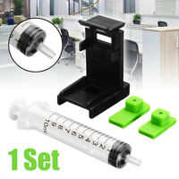 3in1 Ink Refill Cartridge Clip+ 2pcs Rubber Pads + Syringe Tool Set for HP 60/61