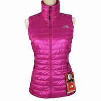 NEW The North Face Women's Blaze Vest Small Hot Pink FlashDry Full Zip $130