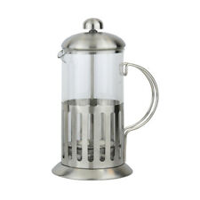 Apollo Coffee Plunger Cafetiere Brushed Steel Traditional Basic Coffee Maker