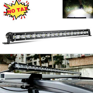 Slim Row 20Inch 480W LED Work Light Bar Combo Flood Spot Truck SUV 4WD OFFROAD