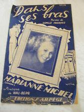 Partition Dans ses bras Valse  Marianne Michel