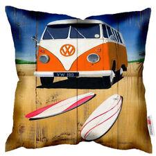 NEW VW Volkswagen Kombi Campervan Van Beach Art Print Retro Cushion