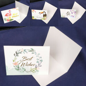 Cute Holiday Greeting Cards Wedding Birthday Party Invitation Card Envelopes 1PC