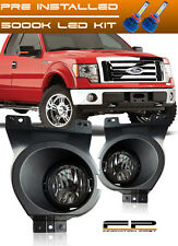 For 2011 2012 2013 Ford F150 Clear Replacement Fog Lights Housing Assembly + LED