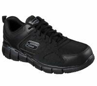 Skechers Black shoes Work Men's Memory Foam Slip Resistant Comfort EH Safe 77152