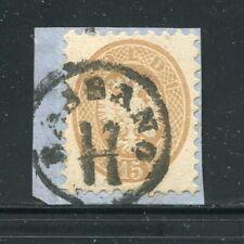 x116 - AUSTRIA LOMBARDY VENETIA 15s Sc#24 Used on Piece. BOLZANO Cancel