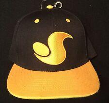 DVS snapback hat BLACK YELLOW OSFM skate skateboarding BMX ballcap NEW with tag