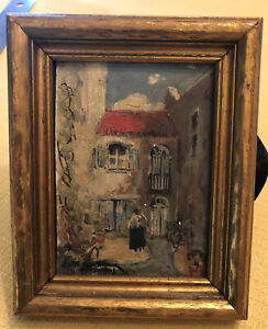 COLETTE POPE HELDNER Oil Painting New Orleans Green Shutter Inn French Quarter