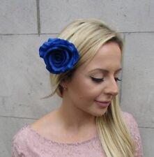 Royal Blue Rose Flower Hair Clip Fascinator Wedding Races Bridesmaid 50s 6197