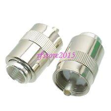 1pce Connector UHF PL259 male plug solder RG8 RG213 LMR400 RG214 RF COAXIAL