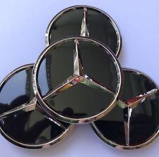 4x 60 mm Schwarz Glanz 4x Mercedes-Benz AMG Nabendeckel Felgendeckel Nabenkappe