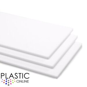 White Colour Perspex Acrylic Sheet Plastic Material Panel Cut to Size