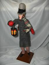 Vintage Stimpich Christmas Holiday Lantern Man Caroler  Hand Crafted  NICE