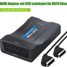 1080P Scart zu HDMI Konverter Scart to HDMI Adapter 60Hz HD mit USB Ladekabel HD