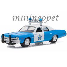 GREENLIGHT 42770 C 1974 DODGE MONACO 1/64 DIECAST MODEL CHICAGO POLICE CAR BLUE
