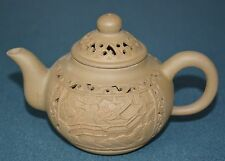 FINE CHINESE ZISHA PURPLE SAND TEAPOT FINELY CARVED NATURAL MATERIAL GM7383