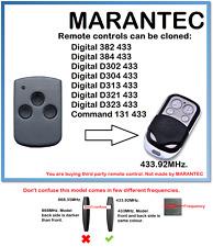 Marantec D313 433 Control Remoto Universal Duplicador 433.92 MHz.