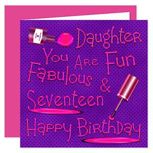 Daughter Happy Birthday Card - Age Range 11 - 60 Years  Naughty Nails Fun Design