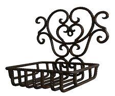 porte savon éponge style ancien en fer de salle de bain de cuisine mural