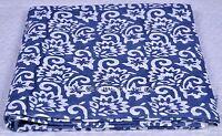 Floral Cotton Fabric Hand Block Printed Handmade Indian Sanganeri Print Fabric
