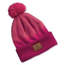 JOHN DEERE *LADIES* PINK & MAGENTA KNIT Stocking Cap CAP HAT *BRAND NEW!*