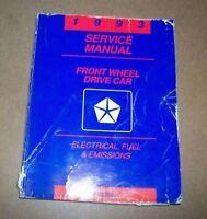 1993 Chrysler Dodge Plymouth FWD Electri Service Manual