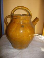 ancienne et belle cruche cruchon en terre cuite vernissée de provence