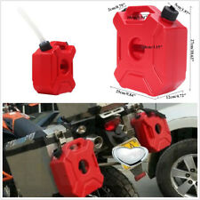 5 L/1.3Gallon Red Motorcycle Bikes Mount Fuel Tank Gasoline Spare Oil Container