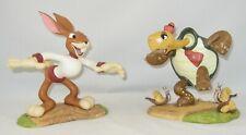 "Disney Wdcc Tortoise & The Hare ""Toby Tortoise & Max Hare"" w/Coa No Box"