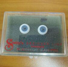 Vintage New Seeleys Designer Line Paperweigt Glass Doll Parts NOS 12 mm Blue