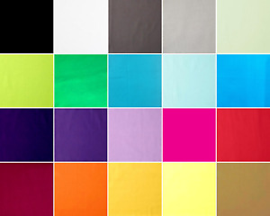 """Plain Cotton Fabric Quilting 40 of 5""""x5"""" Charms  Squares Rainbow"""