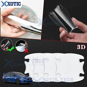 JDM 3D Scratch Paint Protector Door Handle Bowl Film Sticker For Subaru WRX STI