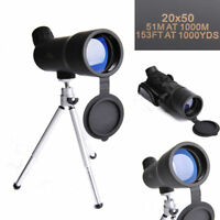 20X50 Spotting Scope Monocular Telescope Zoom Angled Watching with Tripod