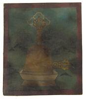 Tsakli Ghanta Campana Quadro Iniziatico Thangka Tibetano Mongolia Tibet- 6237