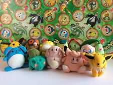 12 Pokemon Plush Raichu Psyduck Mew Marill Stuffed Doll figure Bandai Set Lot