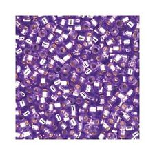 Delica Beads Miyuki 11/0 Seed Beads DB2168 Duracoat Silver Line Orchid Purple