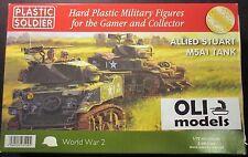 1/72 WW2 Allied M5A1 STUART Tank - Set of 3 - Plastic Soldier 7222