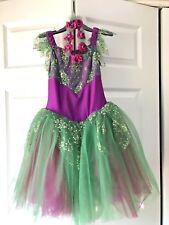 Fairy costume - purple/green sparkle - Child Large
