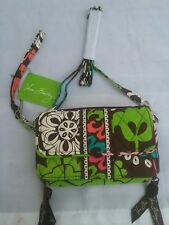 """Vera Bradley Womans Lola All In One Floral Cross Body Purse 52"""" Removable Strap"""