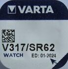 5 x Varta V317 SR62 SR516 RW326 SR516SW Uhrenbatterie Silberoxid knopfzelle