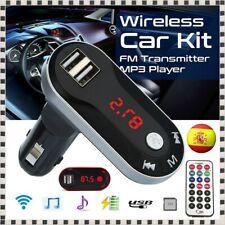 Reproductor MP3 y Transmisor FM para Coche Cargador de Móvil USB Micro SD TF Aux