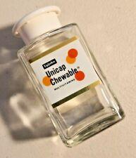 Vintage 1960s UPJOHN Unicap Chewable Multivitamins Empty Bottle -- 1727