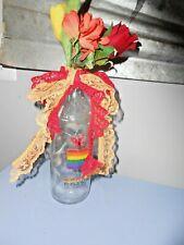 "Handmade Decorative Glass Led Lighted Wine Bottle "" Gay Pride"""