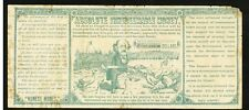 1880 Anti Greenback Absolute Money $1000 Political Satire Note - Benjamin Butler