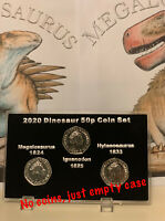 2020 Dinosaur Empty display case Fifty Pence 50p Coin ( No Coins ) + Stand